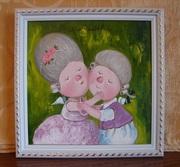Картина маслом на подарок Гапчинская копия маслом Моя любовь