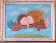 Картина маслом из новой коллекции Евгении Гапчинской Когда я с тобой!